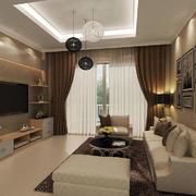 客厅简约影视墙一居室装修