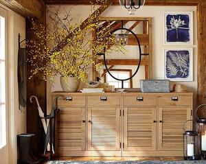 别墅进门鞋柜加冰箱设计效果图,别墅装修进门玄关的设计效果图