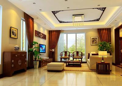 中式装修100平米样板房,家庭装修100平米样板房
