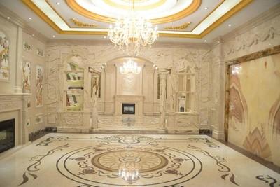装修大理石地面效果图,别墅装修客厅大理石地面效果图大全集