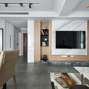 客厅简约电视墙一居室装修