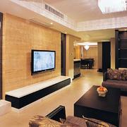 客厅简欧电视墙70平米装修