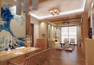 日式简约风格别墅装修效果图客厅,日式风格简约装修效果图大全
