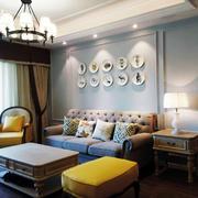 客厅复古局部一居室装修