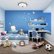 儿童房美式背景墙一居室装修