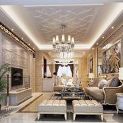 客厅古典局部大户型装修