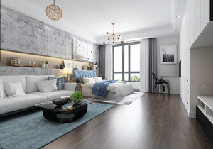 45平米酒店式公寓装修效果图,45平米的单身公寓如何装修