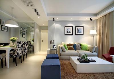 90平米三室一厅简单装修效果图,90平米三室一厅简欧装修效果图