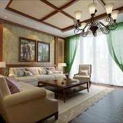 客厅东南亚局部90平米装修