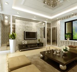 客厅与餐厅电视隔断装修效果图,客厅和餐厅电视柜隔断装修效果图