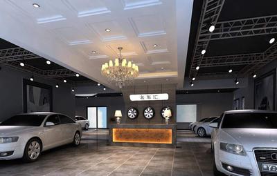 两层楼的汽车展厅设计效果图,汽车展厅外观设计效果图