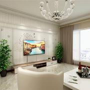 客厅现代电视墙90平米装修