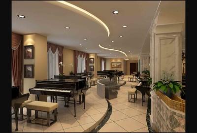 钢琴培训学校装修效果图,学校的音乐大厅装修效果图