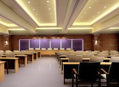多功能会议室装修效果图,多功能会议室门牌效果图