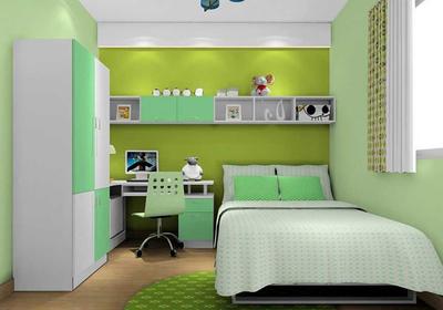 绿色儿童房壁纸装修效果图,儿童房壁纸装修效果图大全