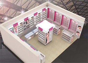 美甲带化妆品店装修效果图,10平米化妆品店装修效果图