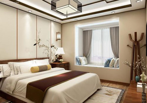 现代新中式装修卧室效果图,现代中式卧室装修效果图大全2019