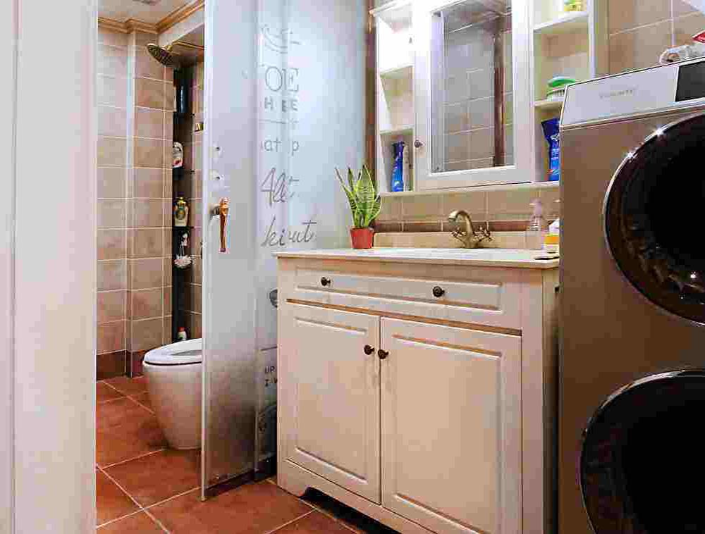 家装干湿分区卫生间装修效果图,小户型干湿分区卫生间