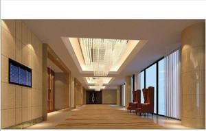 新中式風格酒店大廳裝修效果圖,新中式酒店大廳背景墻裝修效果圖大全