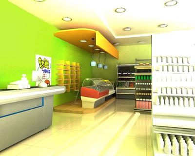 小型便利店装修效果图,30平米便利店装修图