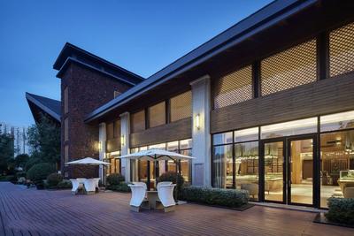 售楼部外观设计效果图,售楼部外立面效果图