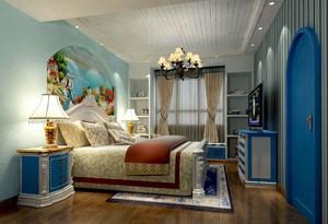 地中海女生卧室装修效果图,地中海小卧室装修效果图大全