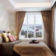 卧室现代飘窗80平米装修