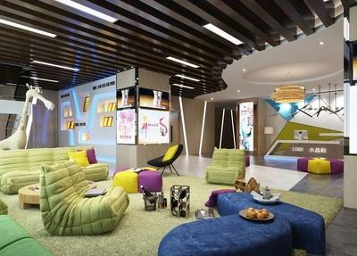 婴儿游乐园装修效果图,30到40平方的游乐园效果图