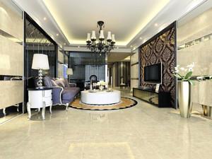 地砖客厅装修效果图,客厅装修中式地砖效果图