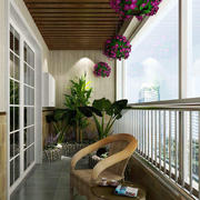 阳台现代局部100平米装修