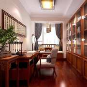 书房中式局部90平米装修