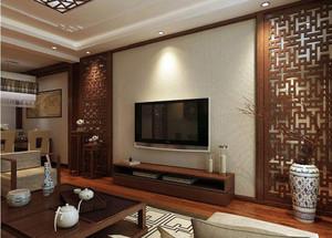 新中式装修电视墙隔断效果图大全,装修新中式电视墙效果图大全