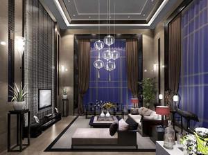 别墅现代简约中式风格装修效果图,中式现代简约风格装修效果图
