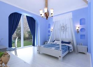 地中海風格小臥室裝修效果圖,浪漫地中海風格臥室裝修效果圖大全