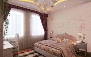 硅藻泥欧式壁纸卧室效果图大全,硅藻泥背景墙欧式卧室装修效果图