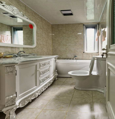 美容院卫生间装修效果图,中式美容院卫生间装修效果图