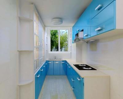 u型厨房客厅一体装修效果图,30平米厨房客厅一体装修效果图大全