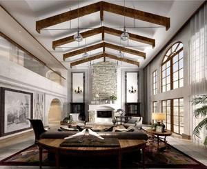 客厅中间有横梁怎么装修效果图,有横梁的客厅怎么装修