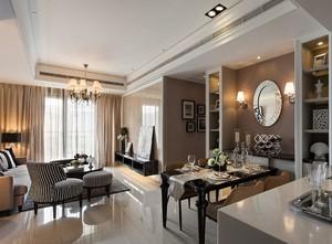 小户型客厅与餐厅一体装修效果图,简欧式客厅与餐厅一体装修效果图