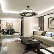 客厅美式灯具90平米装修