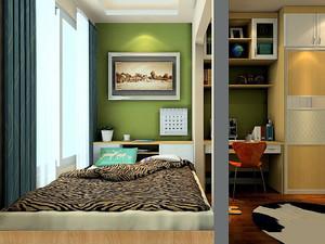 大阳台改卧室装榻榻米效果图,大阳台卧室榻榻米设计效果图