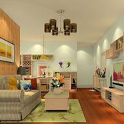 客厅现代壁柜小户型装修