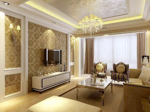 小户型客厅欧式装修效果图,简欧客厅小户型装修效果图