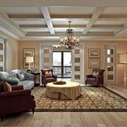 客厅美式家具90平米装修