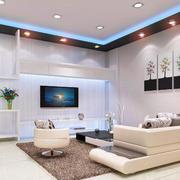 客厅现代吊顶90平米装修