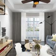 客厅现代吊顶小户型装修