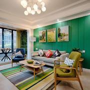 客厅北欧家具100平米装修