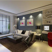 客廳現代家具90平米裝修