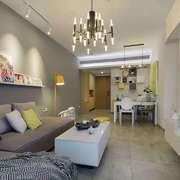 客厅现代吊顶100平米装修