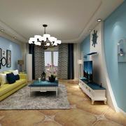 客廳現代墻面90平米裝修
